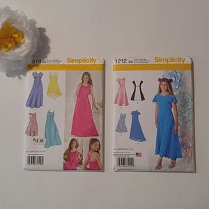 Simplicity New Sewing Pattern Girls Dresses